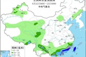 江南华南等地有较强降水华北多雷阵雨天气